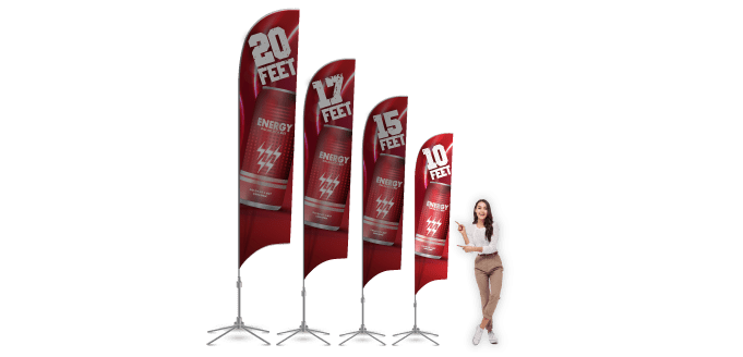 Feather Banners 10ft