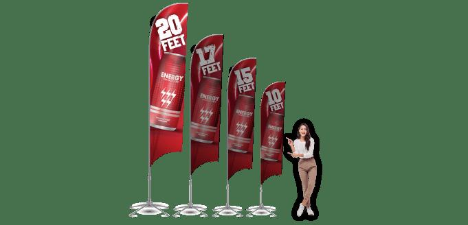 Custom Flag Printing 20ft