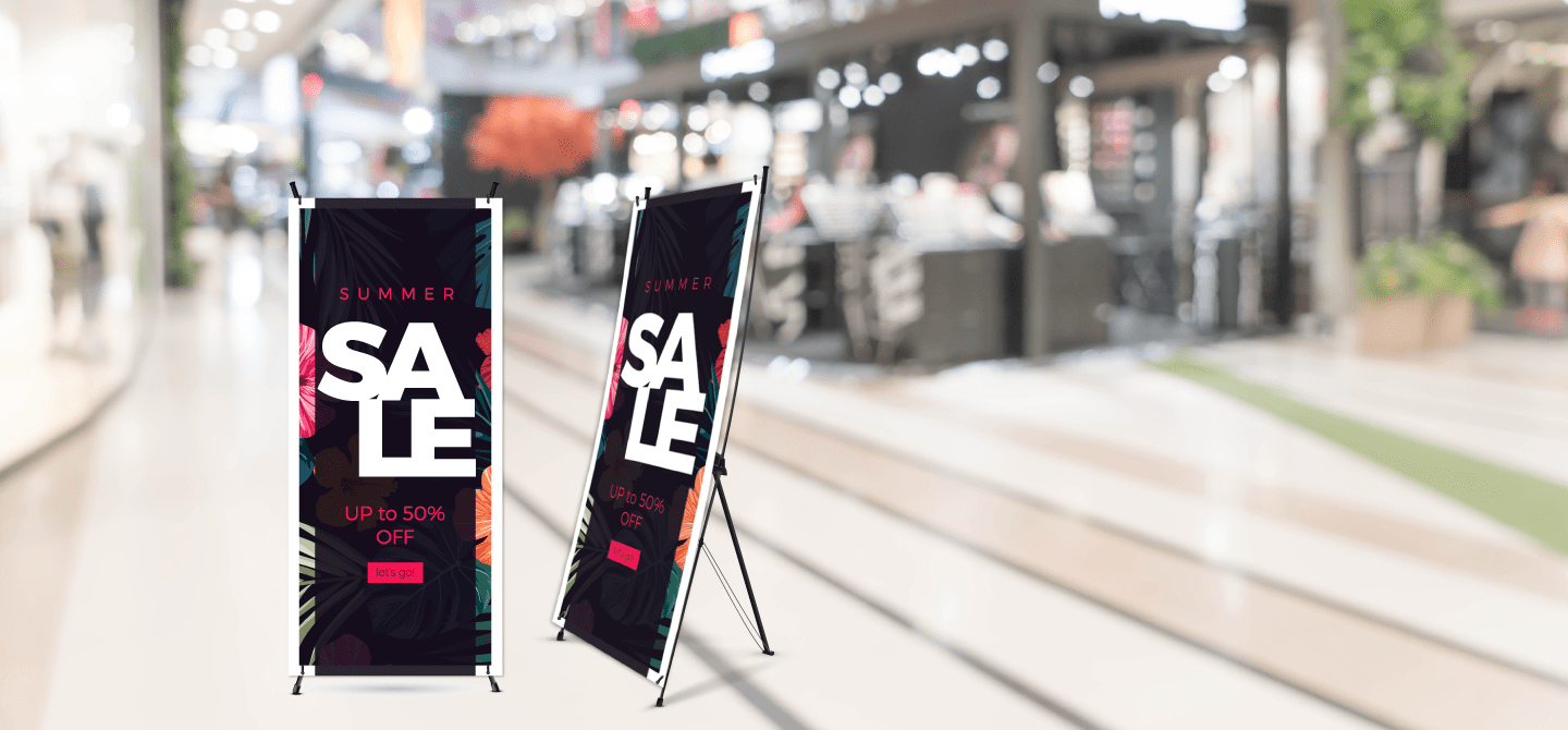 x banner stand sale signs