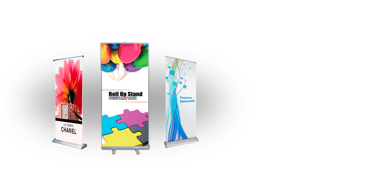Roll Up Banners - Economy Retractable Banners - Pop-Up Banners