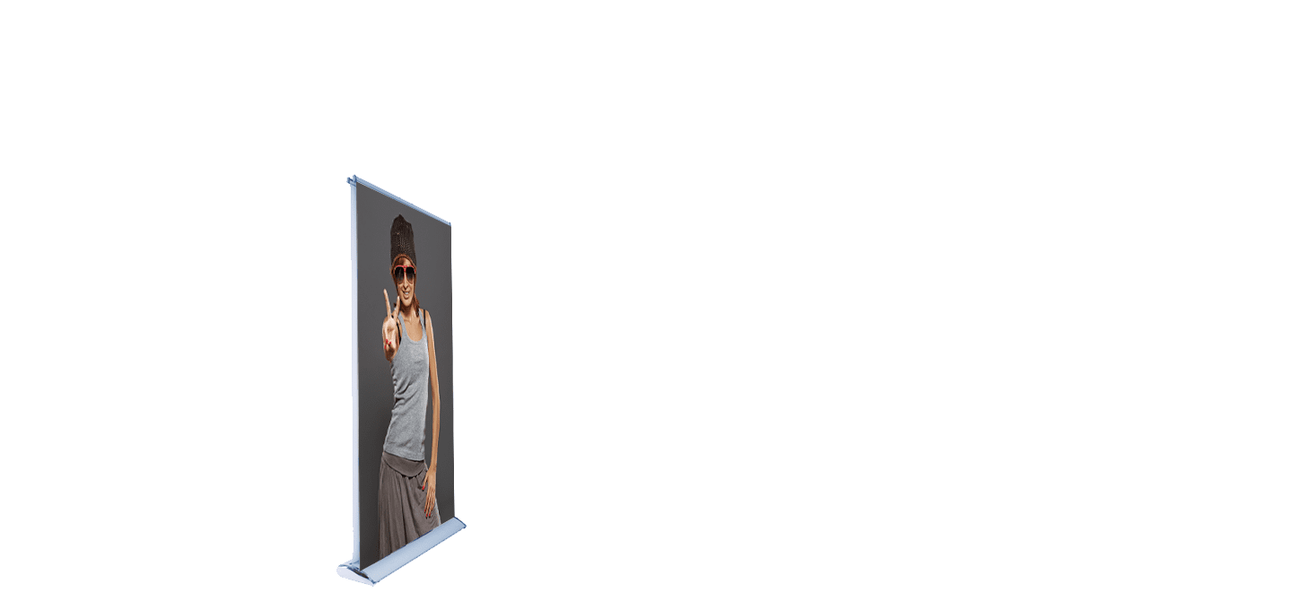 Double Sided Fabric Retractable Banner