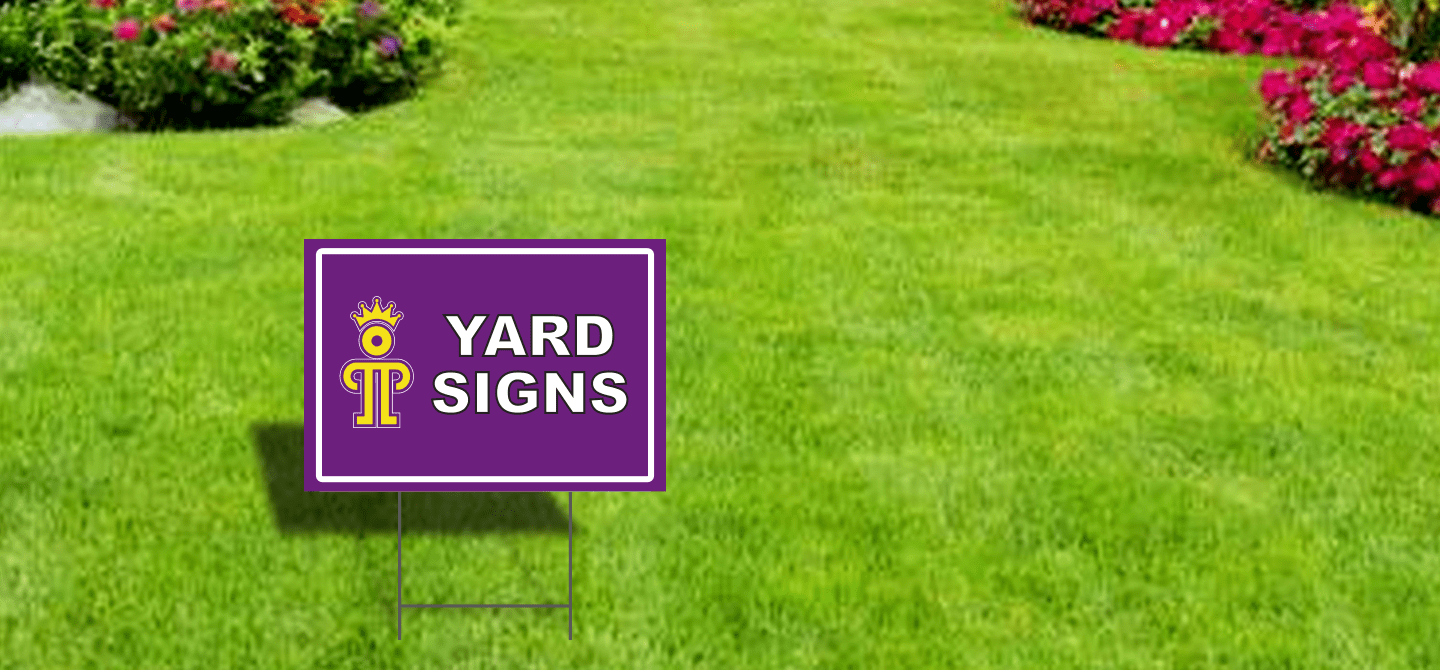 Yard Signs with Step Stakes