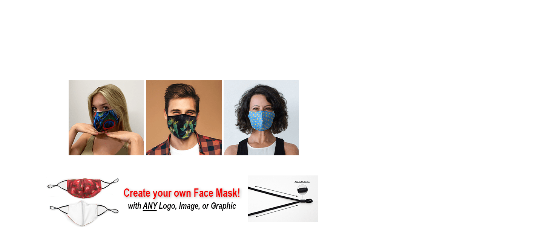 3D Adjustable Custom Printed Face Masks